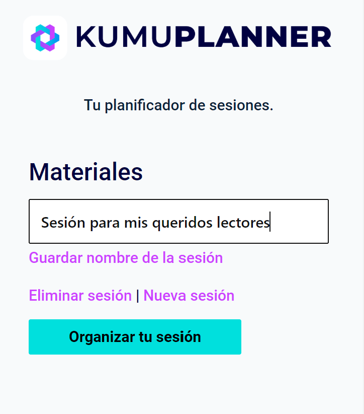 programacion didactica con el kumuplanner
