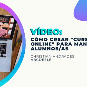 Crear cursos online