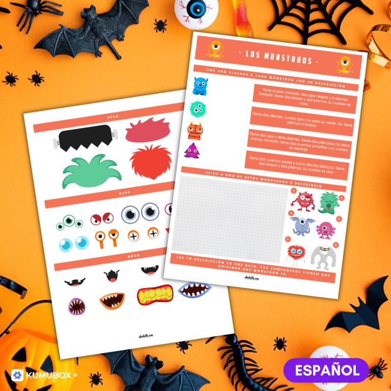 Describe y crea tu monstruo de Halloween