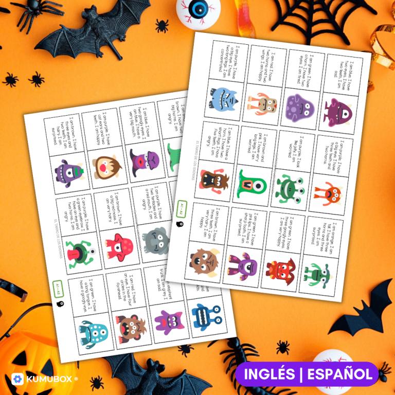 Dominó_ Descripciones de monstruos de Halloween